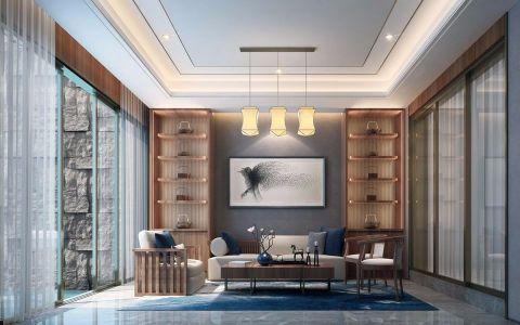 威海乾和院460平新中式风格别墅装修效果图
