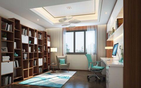 书房博古架新中式风格装饰效果图