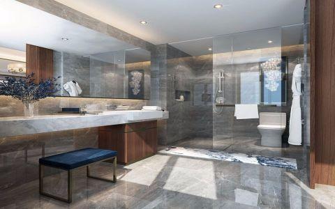 卫生间隐形门新中式风格装饰图片