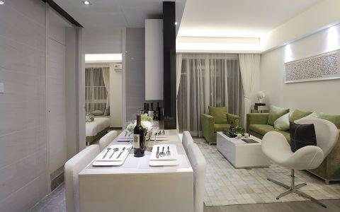 玉兰广场110平现代风格三居室装修效果图
