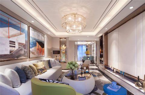 星湖广场130平米现代风格三居室装修效果图