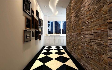 玄关背景墙现代风格效果图