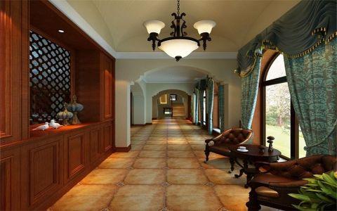 玄关走廊美式风格装修图片