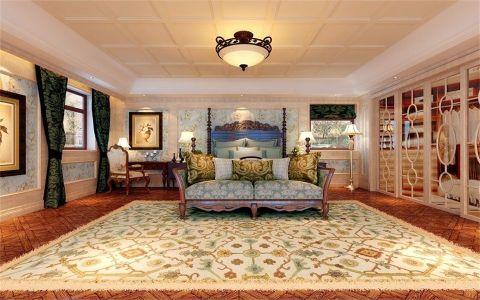 卧室吊顶美式风格装修设计图片