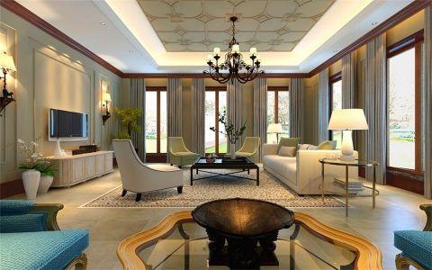首信汇93平美式风格二居室装修效果图