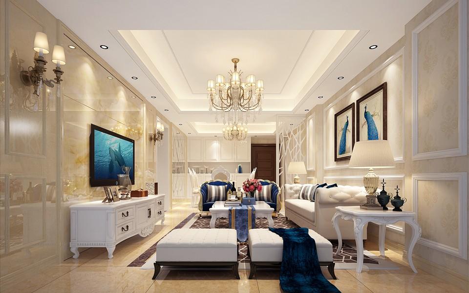 2室2卫2厅100平米简欧风格
