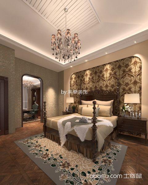 卧室细节美式风格装饰效果图