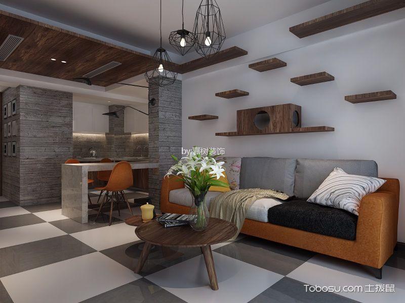 客厅橙色细节现代风格装潢设计图片