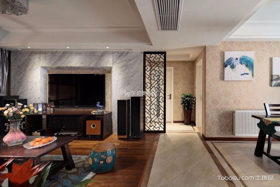 欧尚花园80平中式三居室装修效果图