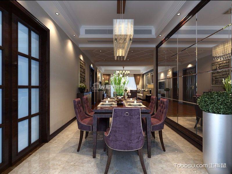 餐厅紫色细节现代简约风格装潢图片