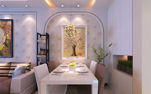 餐厅照片墙简约风格装潢设计图片