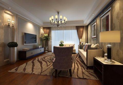 玫瑰园100平现代简约风格三居室装修效果图