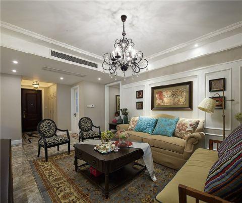 铜锣湾90平美式风格三房居室装修效果图