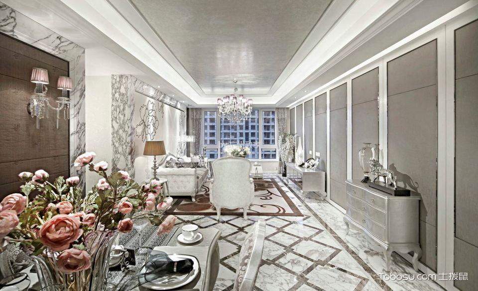 星河湾150m古典欧式3房2厅装修效果图