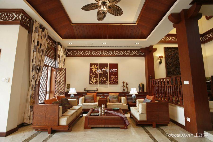 南沙湾别墅319平东南亚风格别墅装修效果图