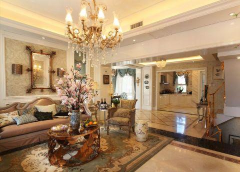 客厅细节法式风格装潢设计图片