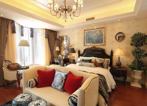 卧室背景墙法式风格装修效果图