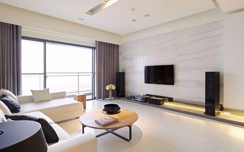 世纪江尚88平现代简约风格二室一厅装修效果图