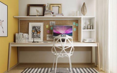 书房背景墙现代简约风格效果图