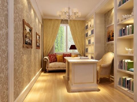 书房窗帘欧式风格效果图