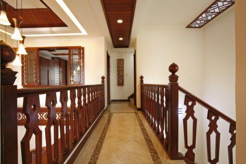 玄关楼梯东南亚风格装饰图片