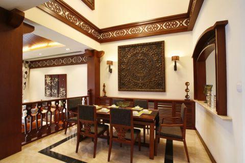餐厅细节东南亚风格装潢图片