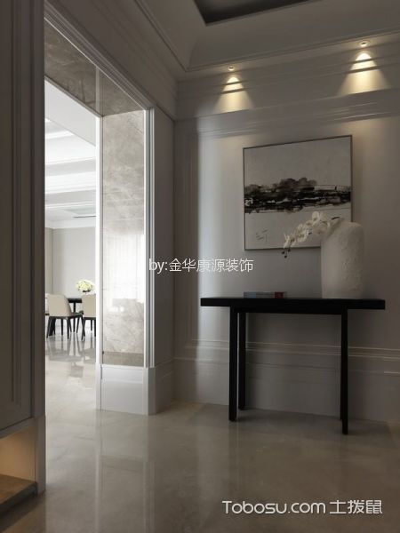 玄关白色门厅简约风格装饰图片