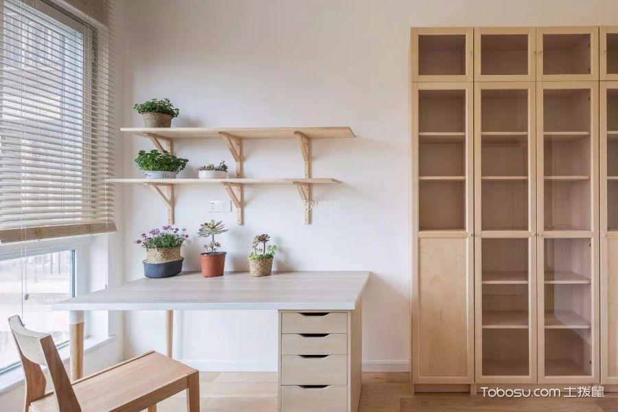 卧室白色书桌日式风格装潢图片