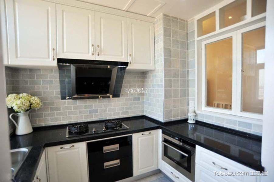 厨房白色橱柜北欧风格装饰效果图