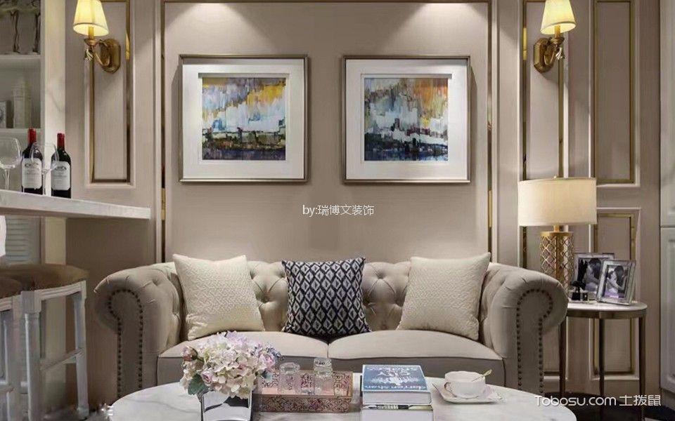 国际花都85平米现代风格一居室装修效果图