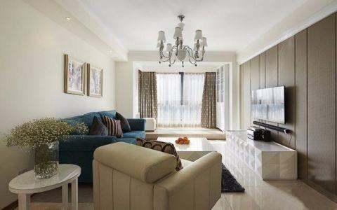 绿地理想城80平简约风格三居室装修效果图