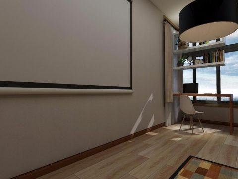 书房背景墙简欧风格装潢设计图片