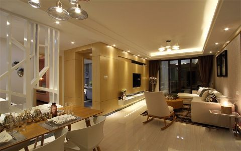 5万预算128平米三室两厅装修效果图
