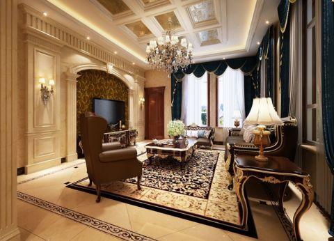 香江别墅330平米欧式古典风格装修效果图