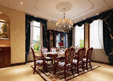 餐厅窗帘古典风格装修设计图片