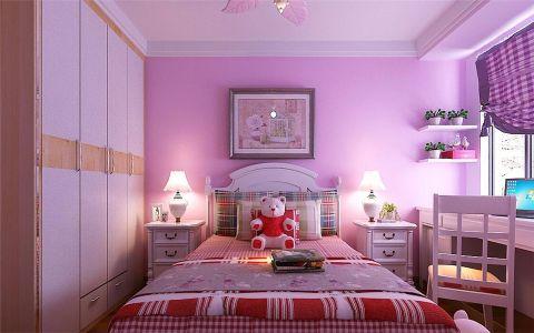 儿童房背景墙现代简约风格装饰效果图