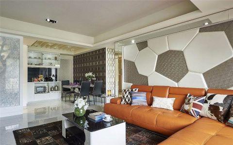 客厅背景墙简约风格装潢图片