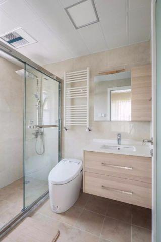 卫生间隔断日式风格装潢设计图片