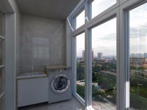 阳台落地窗现代简约风格装饰图片