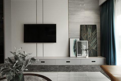 联泰天悦110平三居室现代风格装修效果图