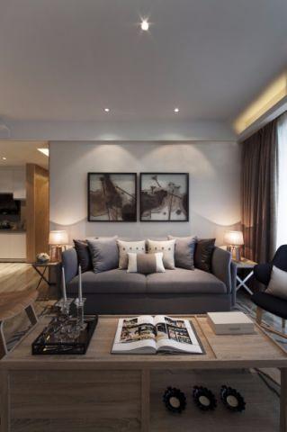 客厅灰色细节简约风格装潢效果图