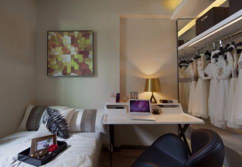 卧室白色梳妆台简约风格装修设计图片