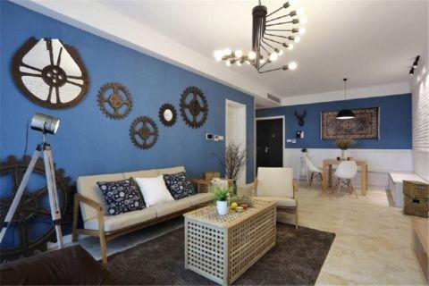 客厅窗帘北欧风格装饰图片
