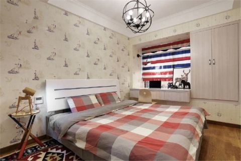 卧室隔断北欧风格装饰设计图片