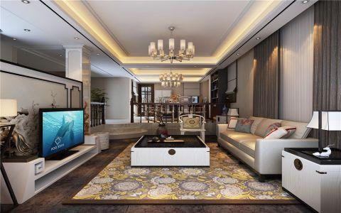 铂金汉宫151平新中式风格三居室装修效果图