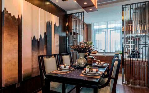 厨房推拉门新中式风格装潢图片