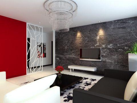 客厅隔断现代简约风格装修图片