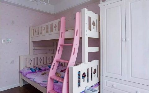 儿童房背景墙美式风格装饰图片