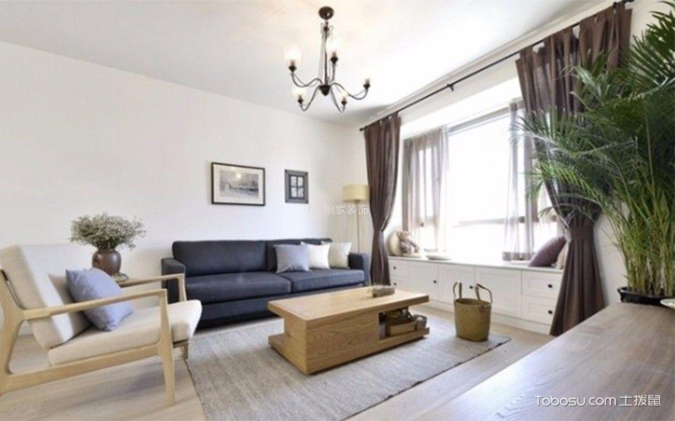 客厅 飘窗_4.5万预算100平米两室两厅装修效果图