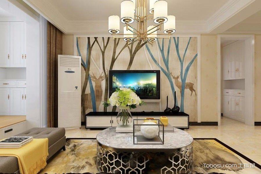 90平后现代风格两室装修效果图